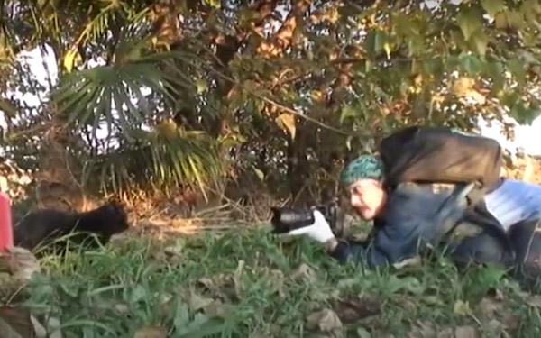 多摩川の野良猫写真家